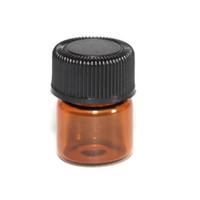 Heißen verkauf 2ML Braunglasflasche mit Tip und Black Cap, Bernstein wesentlich Öl-Flasche 2ml, leeres Glas Tropfflaschen 2 ml