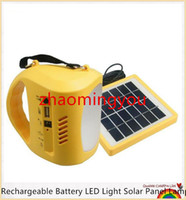 Bateria recarregável LED luz de painel solar lâmpada de acampamento de acampamento luz com luz de montagem de rádio lanterna de aceleração USB