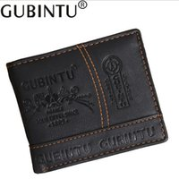 Gubintu brand Solid Men' s PU leather wallet with coin p...