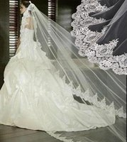 2016 Winter Best buy One- tier Chapel Cathedral Wedding Veil ...
