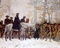 Framed GEORGE WASHINGTON AT VALLEY FORGE, Free Shipping, Pure ...