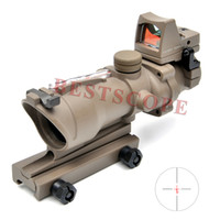 Tactical Trijicon ACOG 4X32 Red Dot Sight Scope Real Red Fib...