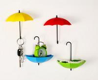 3 قطعة / الحزمة الزخرفية الملونة مظلة جدار هوك مفتاح عملة دبوس الشعر حامل جدار الخيالة تخزين الرف للحمام المطبخ المدخل
