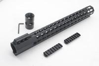 Tactical Ultraleve 15 polegada Key mod Picatinny Rail para AR15 M4 M16 Free Float Handguard Frete Grátis
