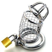 CB577 Aço Inoxidável Masculino Dispositivo de Gaiola de Castidade Bondage Boy Friend Melhor Presente UA5 # R172