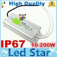 Alta qualità 12 V 200 W 150 W 100 W 60 W 45 W 30 W 20 W 10 W LED Driver Alimentazione Esterna Impermeabile IP67 DHL LIBERA il trasporto 10 pz Lotto