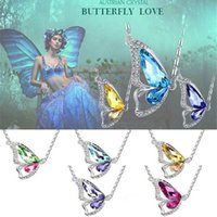 Newest S925 Korean dancing butterfly pendant crystal pendant...