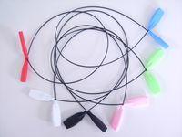 100pcs / fina peso óculos luz óculos cabo lote de ultra cabo retentor com pontas de extremidade plana de silicone