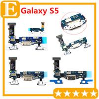 Şarj Liman Dok Bağlantı Mikro USB Bağlantı Noktası Flex Kablo İçin Galaxy S5 G900F G9008 G900A G900T VS G900M G900P G900V Sensör Ana Tuş takımı