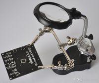 72 stücke ein Beutelschweißen Multifunktions-Desktop-Wartungs-Lupe, HD mit LED-Leuchten 10-mal-Lupe-Eisen ideal für Kleinkreis-MD