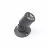Mini LED Black / Silber Aluminium Schmuck Lichtschrank Lampe Decke LED-Scheinwerferlicht mit Treiber DC12V 1W rein warmweiß