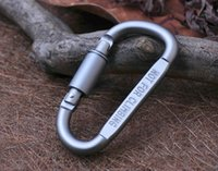 New Outdoor Segurança Buckle liga de alumínio D-Shape Escalada Botão Carabiner snap Gancho, Keychain Chaveiro Carabiners Camping Caminhadas K107