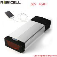Tasse libere 36V 40ah 1000W batteria al litio con supporto posteriore Bafang BBSHD 36v 1000w Kit e-bike con porta USB per Sanyo Cell