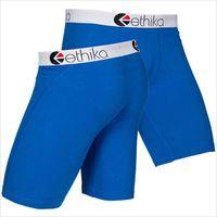 Ethika Zımba Erkek İç Çamaşırı Boxer Mavi Spandex Pamuk