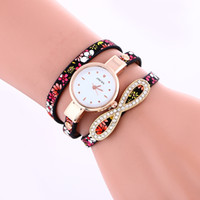 Fashion Woman Leather Bracelet Wrist Watch Narrow Leather St...