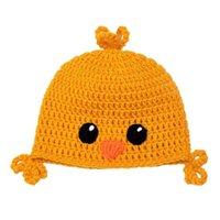Очаровательны Baby Chick Hat, Ручная вязка крючком Baby Boy Girl Animal Beanie, Детская зимняя шапка-вкладыш, детская опора для новорожденных