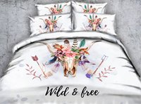 Ox Horn 3D Printed Bedding Sets Twin Full Queen King Cal Kin...