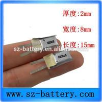 Kleinste dünne 020815 9mAh Lithium-Polymer-2mm-Batterie 3,7v 200815