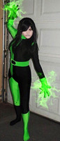 Aangepaste Movie Kim Mogelijke Vrouw Shego Kostuum Lycra Spandex Super Villain Halloween Cosplay Shego Body Pak