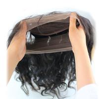 Pre-Plucked 360 레이스 정면 아기 머리카락 100 % 브라질 버진 인간의 머리 전체 레이스 정면 폐쇄 바디 웨이브 자연 블랙 컬러
