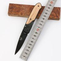 Benchmade DA44 Titanium Tactical Folding Knife Wood Handle 440C Outdoor Camping Hunting Survival Pocket Utility EDC Tools