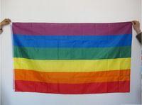 قوس قزح العلم 3x5 قدم البوليستر العلم غاي برايد أعلام السلام ليزبيان برايد السلام شعارات العلم