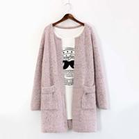 de atacado- Womne Outono Inverno Cardigan Mulheres Moda manga comprida camisola de malha Outwear Casual