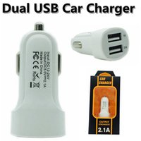 New 5V Full 2A Dual USB Port Car Charger Adapter White With ...