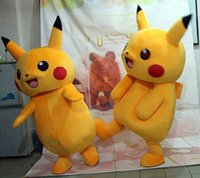 Venda quente 2016 Pikachu traje da mascote popular personagem de banda desenhada traje para adulto Pikachu Fancy Dress Party Suit