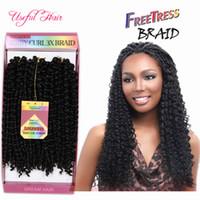 Bohemian Crochet Afro Kinky Curly Tranças 3pcs / Pack Savana Twist Hair Jerry Curly 10inch Trança Sintética Cabelo Freetress Water Wave