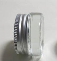 5g klar mattiertes Glas Sahneglas mit silbernem Aluminiumdeckel, 5 Gramm Kosmetikdose, Verpackung für Probe / Augencreme, 5g Mini Glasflasche