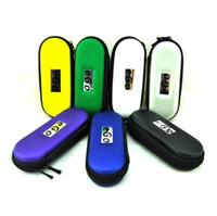 EGo fermuarı çantası deri çanta eig ego taşımak için ugo evod elektronik sigara başlatma setleri Fermuar ile 10 renk LM S Boyut