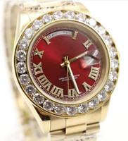 luxury brand watch men Day- Date Red face diamond watches aut...