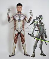 3D Baskı Genji Cosplay Kahramanlar Cadılar Bayramı Partisi Zentaibodysuit Kostüm Çok boyutu seçimi