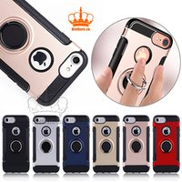 For iPhone 8 Samsung note8 S8 S8plus Carbon Fiber 2 in 1 Rin...