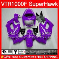 Karosserie für HONDA SuperHawk top Neu lila VTR1000F 1997 1998 1999 2000 2002 2003 2004 2005 91NO71 VTR 1000F 97 98 99 00 01 02 03 04 05