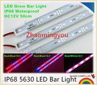 10pcs 50cm / pièce 5630 12V IP68 Barre de LED imperméable à LED étanche Strip rigide Brillons des éclairages Hydroponic Plant Fleurs LED Cultiver la culture de la plante