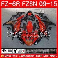 Corpo per Yamaha FZ6N FZ6 R FZ-6N FZ6R 09 10 11 12 13 14 14 Nero Arancione 82No5 FZ-6R FZ 6N FZ 6R 2009 2010 2011 2013 2014 2014 FIURING