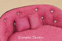 [بسيط سبعة] الأثاث البسيطة جولة صوفا الشكل المخملية صندوق مجوهرات حلق حالة الدائري المنظم قلادة التخزين سوار العرض
