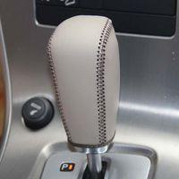 Couvre-engrenages pour Volvo XC60 2009-2012 Colliers à changement automatique Couvre-engrenages en cuir véritable cousu à la main