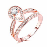Antique Rings Women full AAA zircon micro pave 18k rose Gold...