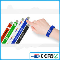 China Wholesale Cheap Bracelet Silicone wrist USB 4GB 8GB Me...