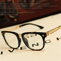 Wholesale- Vintage Top Quality Glasses Women Men Brand Desig...