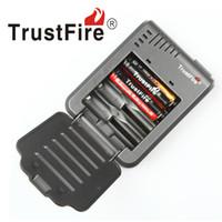 100% Authentic Trustfire TR003 4-Slot Ladegerät für 18650 16450 14500 18350 Akkus VS Nitecore I8 Dhl-freies Verschiffen