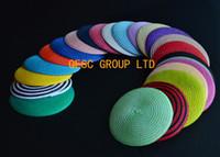 23 couleurs.14cm ronde base de paille paille disque soucoupe base de fascinator pour sinamay fascinator accessoire de cheveux église derby de mariage