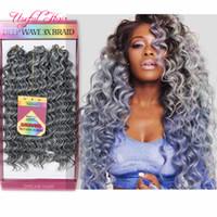 Freetress 180g Savana Mambo Torção Sintética Brading Hair Jerry Curly, Profunda Onda Crochet Hair Extensions 10inch Marley Tranças