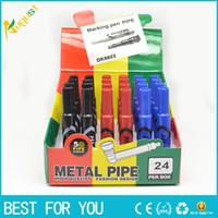 Cześć Litr Rura Marker Pen Stash Dymienie Metalowa Rura Snak A Toke Click N Vape Oferujemy również palący szlifierkę do rur wody
