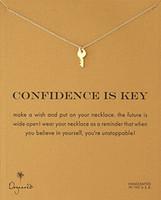 Schlüsselanhänger Dogeared Halskette (zuversichtlich ist der Schlüssel), edler und empfindlicher Schmuck, hochwertige Chokerhalsketten-Vintage-Schlüsselanhänger-Halskette