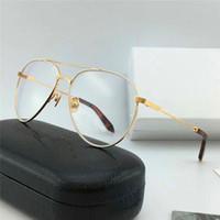 I nuovi occhiali da vista degli occhiali da vista classici dei piloti con lenti trasparenti possono essere equipaggiati con occhiali di alta qualità con scatola 218