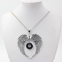 Vente en gros de bijoux interchangeables bijoux chaîne en métal avec bouton 18mm boutonnage pendentif pince collier bricolage pour bijoux